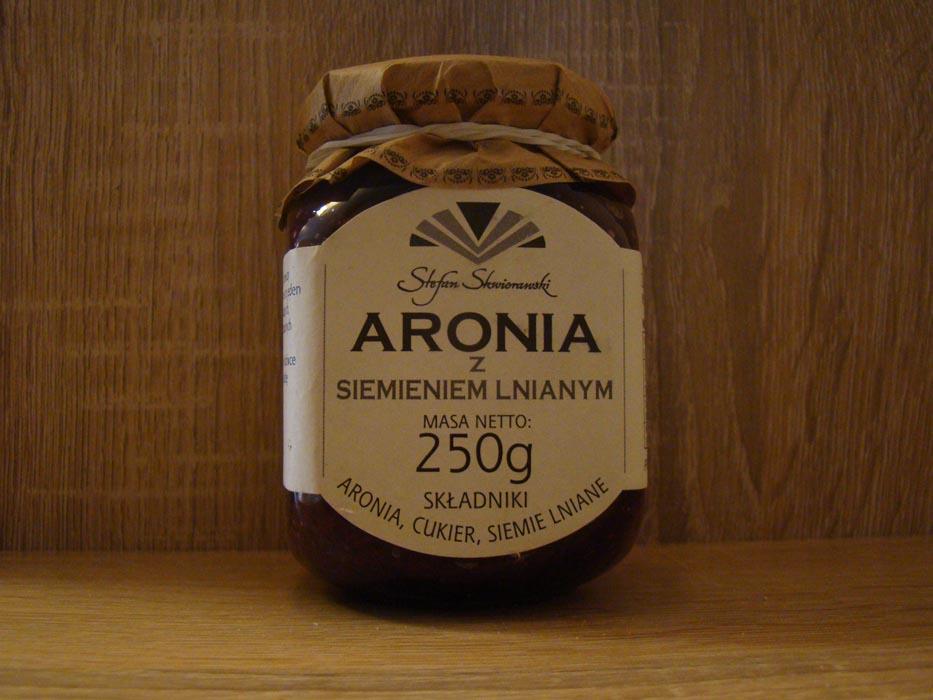 Aronia z siemieniem lnianym