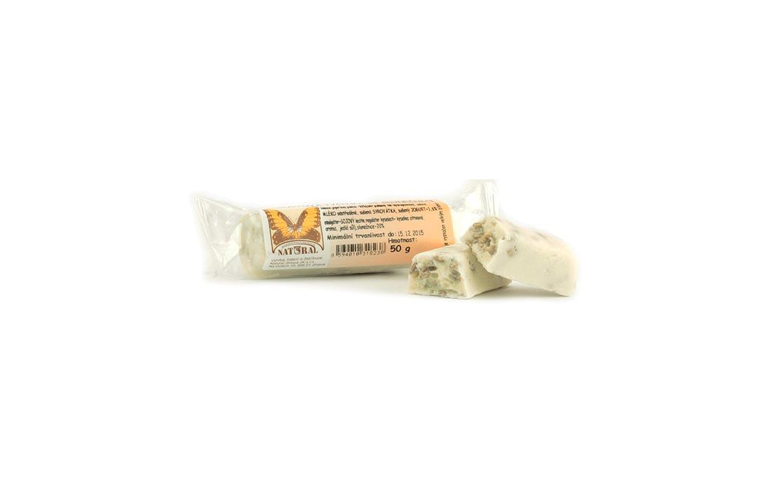 Baton w polewie jogurtowej z słonecznikiem