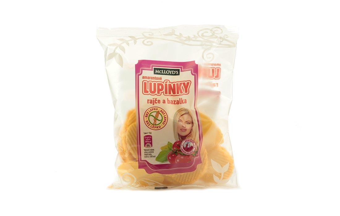 Chipsy amarantusowe z pomidorem i bazylią