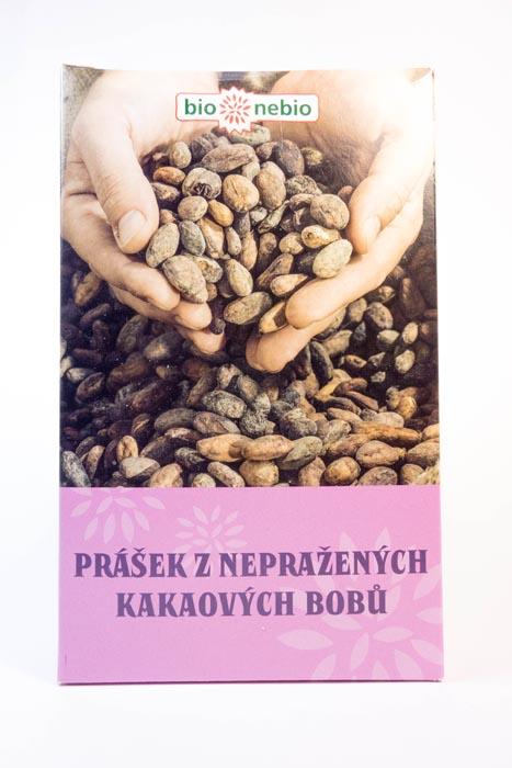 Kakao z nieprażonych ziaren kakaowca bio