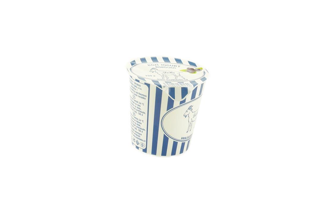 Kozi jogurt z jagodą