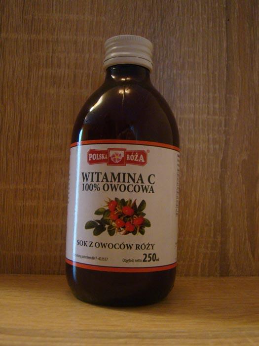 Sok z dzikiej róży witamina c