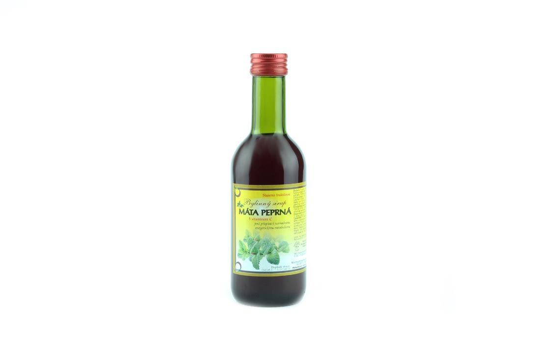 Syrop ziołowy z miętą