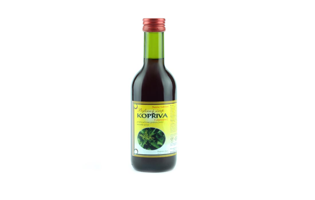 Syrop ziołowy z pokrzywą